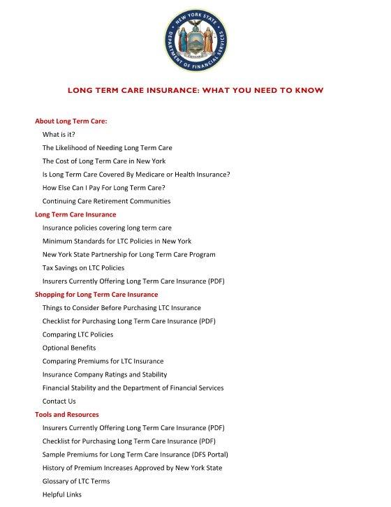 NY LTCi Guide